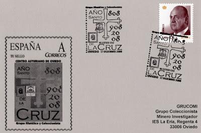 Centro Asturiano, filatelia, exposición, matasellos, Cruz, Ángeles, Victoria