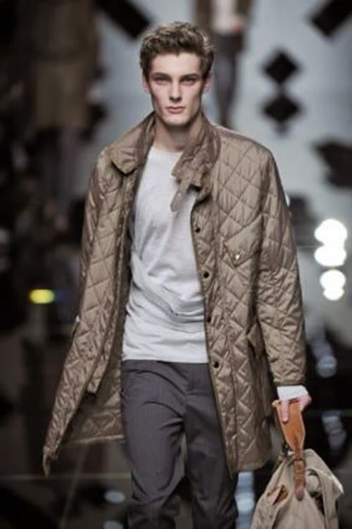 Burberry 2014 Sonbahar Kış Erkek Mont Modelleri