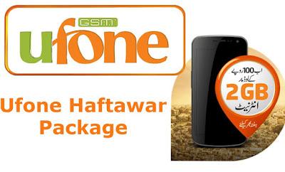 Ufone Haftawar Package Price Details