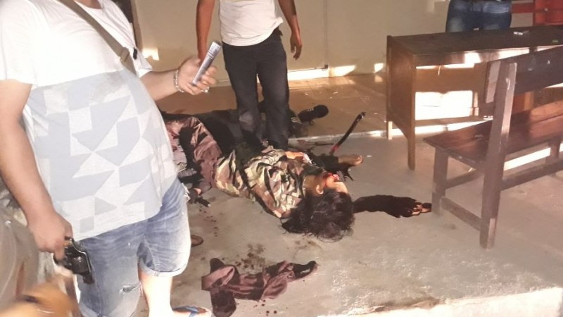 Pembakar Polres Dharmasraya tewas ditembak polisi