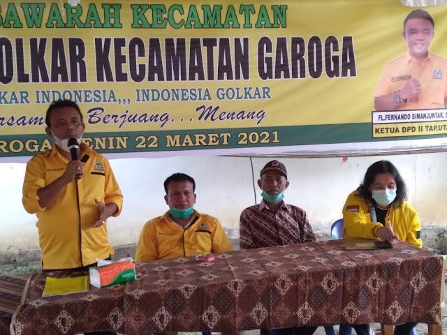 Bangkit Pasaribu Siap Kembangkan Partai Golkar di Garoga