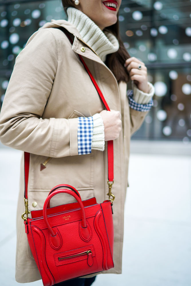 Krista Robertson, Covering the Bases,Travel Blog, NYC Blog, Preppy Blog, Style, Fashion, Fashion Blog, Travel, Must Have Designer Items, Gingham Coat, J.Crew, Preppy Looks, NYC Winter Fashion, Brookfield Place NYC, Winter Style, Oversized Sweaters