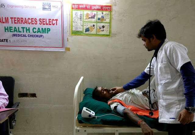 Emaar India organizes free health camps for its site workers