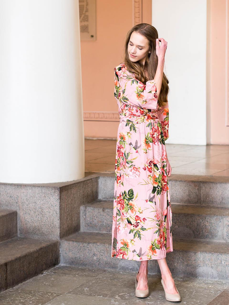 summer-dress-floral-maxi-kappahl-vintage-stories