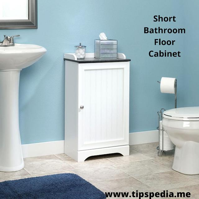 short bathroom floor cabinet