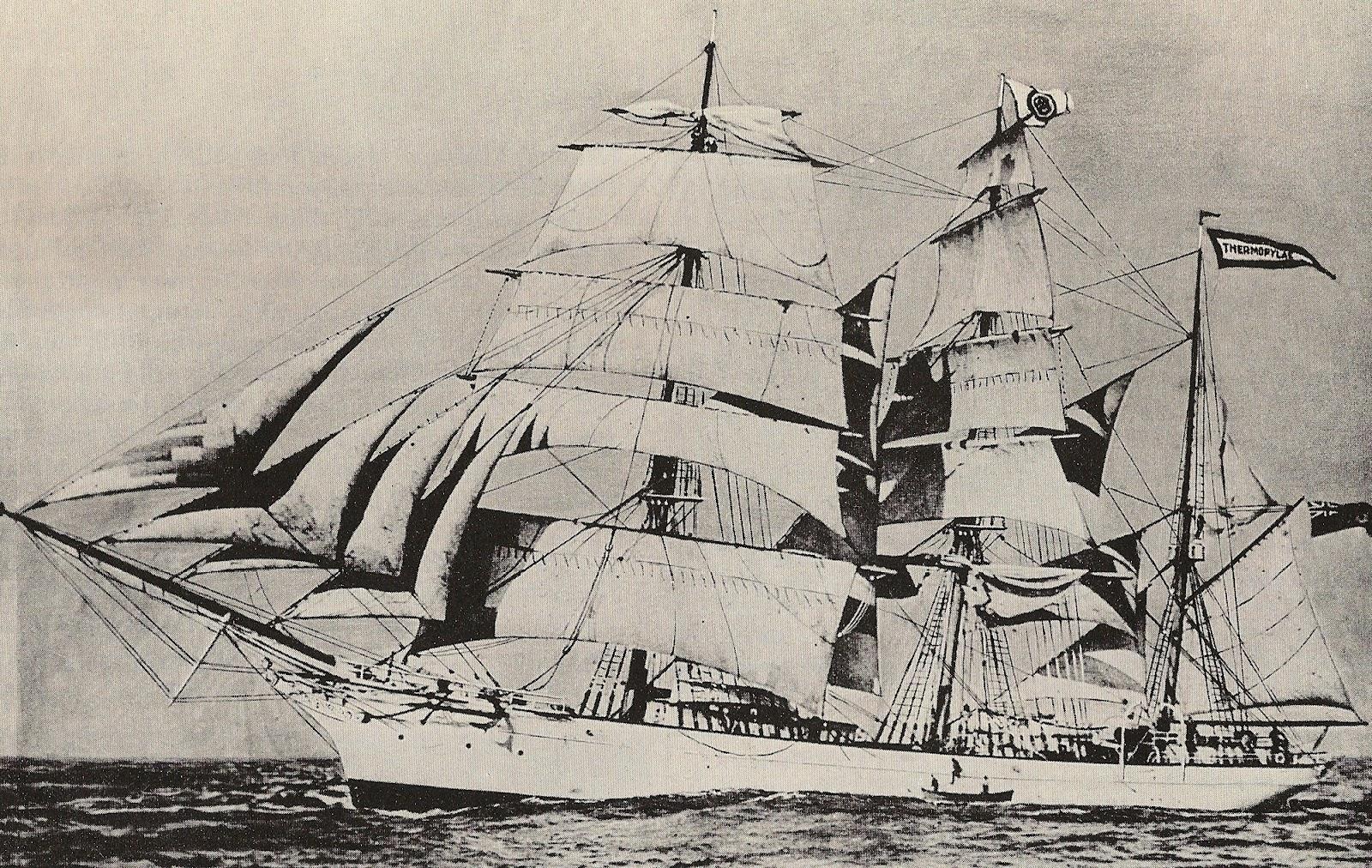 Victoria BC CANADA 1983 Trade DOLLAR Token with Fast Clipper Ship Thermopylae