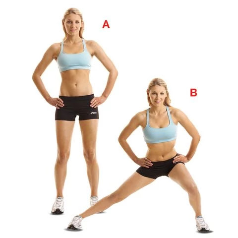 Lateral Lunge  - advanced glute workout