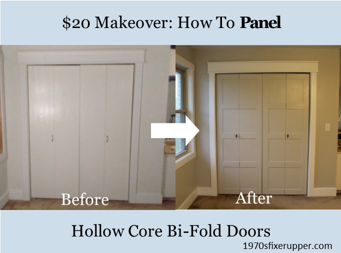 20 Hollow Core Bi Fold Closet Door Makeover