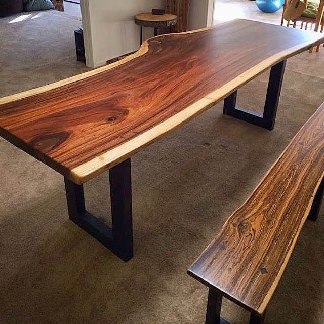 Wooden Bench For Dining Table: Tropical Exotic Hardwoods: Parota Dining Table And Bocote