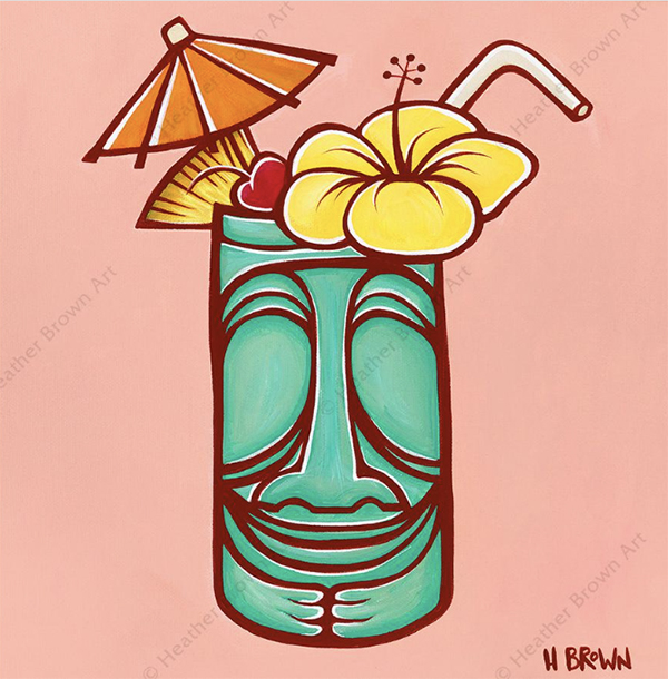 trader Vics mid century modern tiki mug art by heather brown