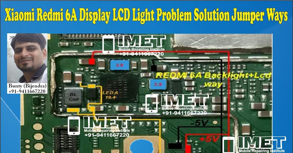 Xiaomi Redmi 6A Display LCD Light Problem Solution Jumper