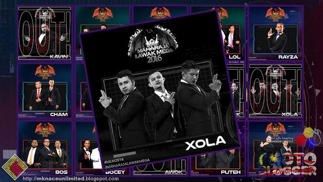 Ejen  #XOLA tewas di Minggu 4 Maharaja Lawak Mega 2016