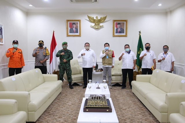 BNPB Pusat Brigjen TNI Antoni Simamora: Penanganan Covid-19 di Muba Patut Jadi Contoh Kepala Daerah lainnya