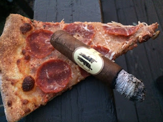 robusto from caldwell with pizza