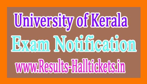 University of Kerala CBCSS / Career Related Rescheduling 2016 Notification