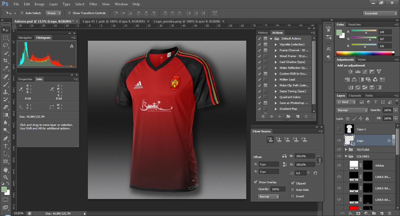 Download Download Mockup Jersey Adidas Adizero PSD Photoshop ...
