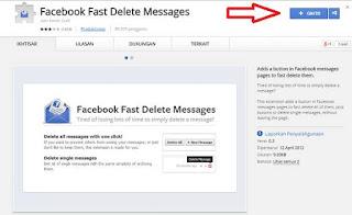 cara mudah menghapus chat fb