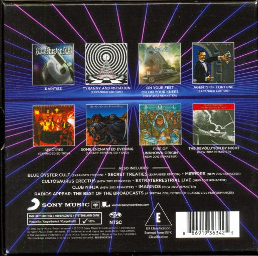 BLUE OYSTER CULT - The Complete Columbia Albums Collection [16-CD Remastered + bonus] box back