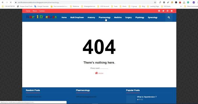 Blogger 404 page not found error codes