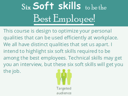 Six Soft Skills to be the Best Employee ! [W.I.P]