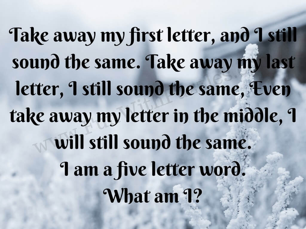 Guess the Word Puzzles and Riddles with answers - Fun With Puzzles