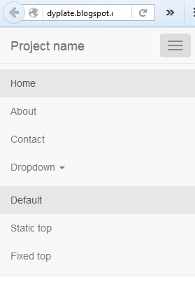 Dropdown mobile menu for Bootstrap
