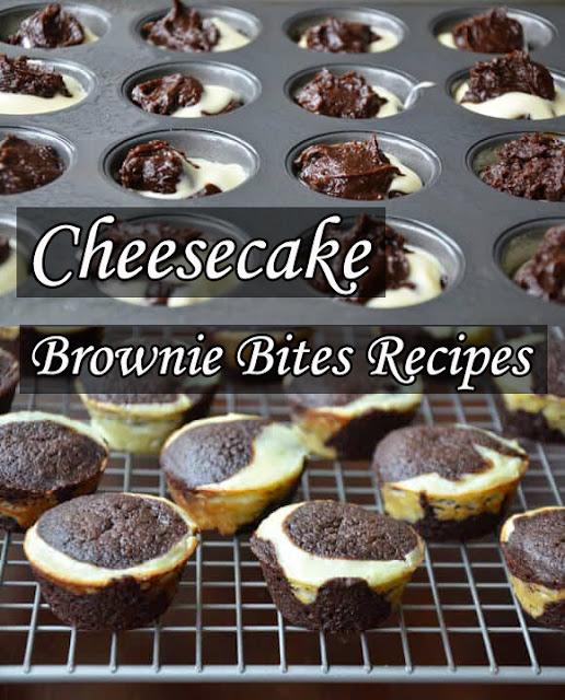 Cheesecake Brownie Bites Recipes