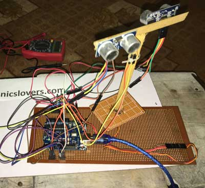 Home Made Model Of Electronic Bat By Using Arduino Uno Do It Yourself Project