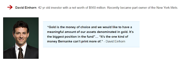 david einhorn review on gold ira