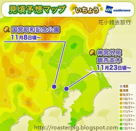 2013年東京紅葉情報 - 花小錢去旅行