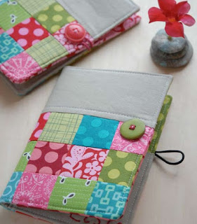 cover agenda fai da te in patchwork