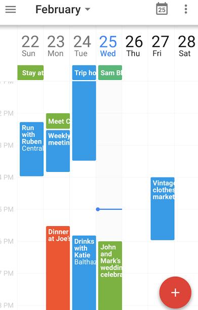 Google Calendar Planner View : Google operating system february