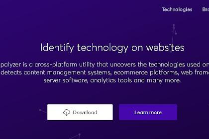 Wappalyzer - Tool Pendeteksi Teknologi Pada Website