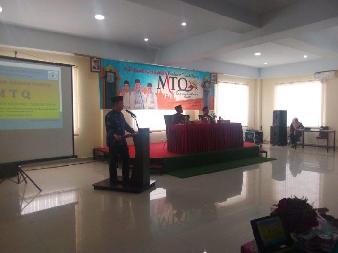 Bupati Kerinci Buka Pelatihan Dewan Hakim MTQ