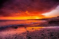 Fiery sea - Photo by Mark Harpur on Unsplash