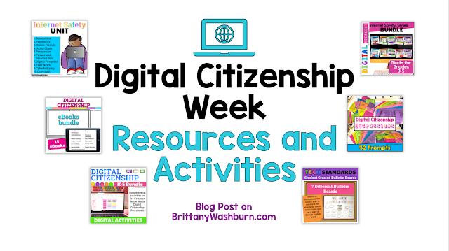 Digital Citizenship Week Activities for K-5