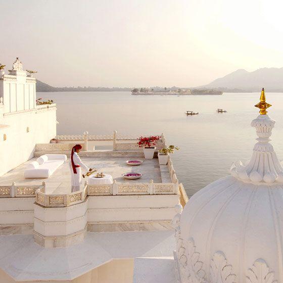 The Taj Lake Palace Udaipur a sumptuous dream hotel {Cool Chic Style Fashion}