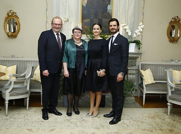 Swedish Princess Sofia Hellqvist wore Charlotte Olympia Monroe Metallic Leather Pumps