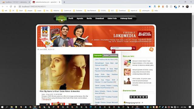 Website dan CMS Portal Informasi dan Berita Online v1