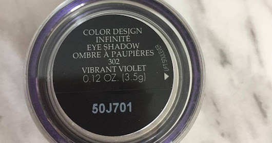 Lancome Color Design Infinite Eyeshadow '302 Vibrant Violet': Review and SWATCH