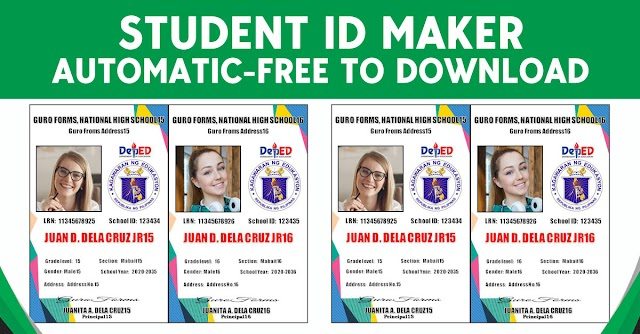 STUDENT ID MAKER TEMPLATE - FREE TO DOWNLOAD