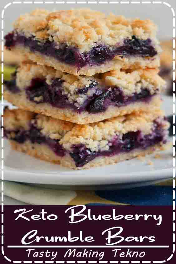 Keto Blueberry Crumble Bars are absolutely perfect for your weekend or holiday brunch. Crumble Bar recipes may look intimidating to make, but it's actually quite easy. Think of it as a two part recipe. You've got your delicious crust and crumble and then the fruit filling. The blueberry filling is where this blueberry dessert recipe gets tasty.