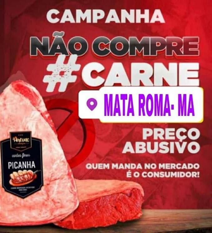 Campanha contra preço abusivos do quilo de  carne toma conta nas redes sociais e Whatsapp em Mata Roma.