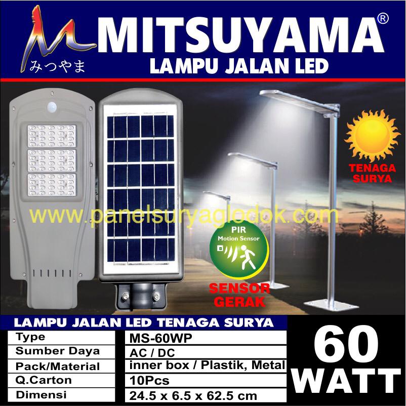 Lampu Jalan Solar Panel All In One Mitsuyama