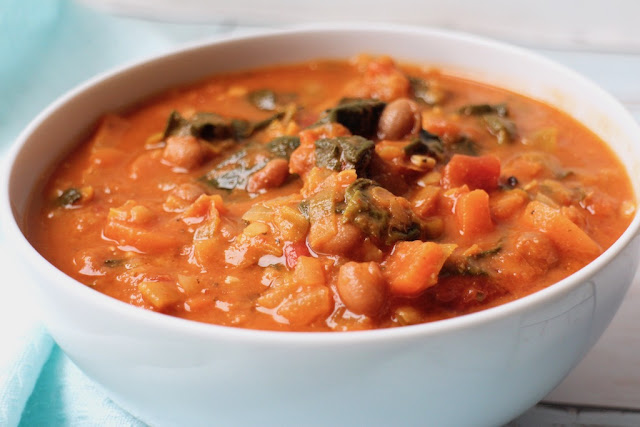 Vegan Tuscan bean and lentil soup recipe