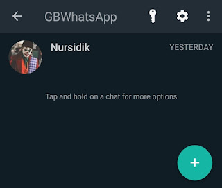 how to show hidden chat in gb whatsapp
