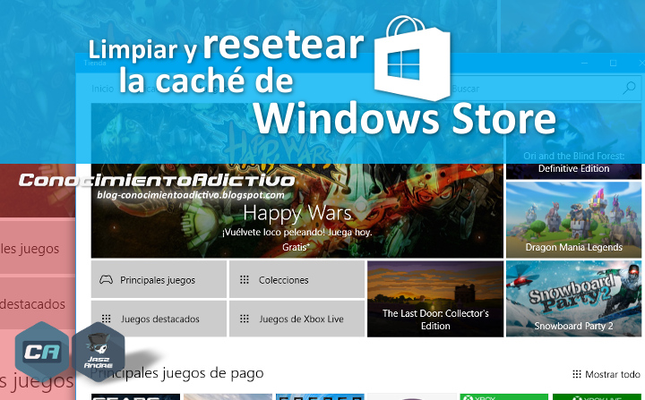 CAdictivo-Tip #24 : Limpiar y resetear la caché de Windows Store en Windows 8.1 y 10