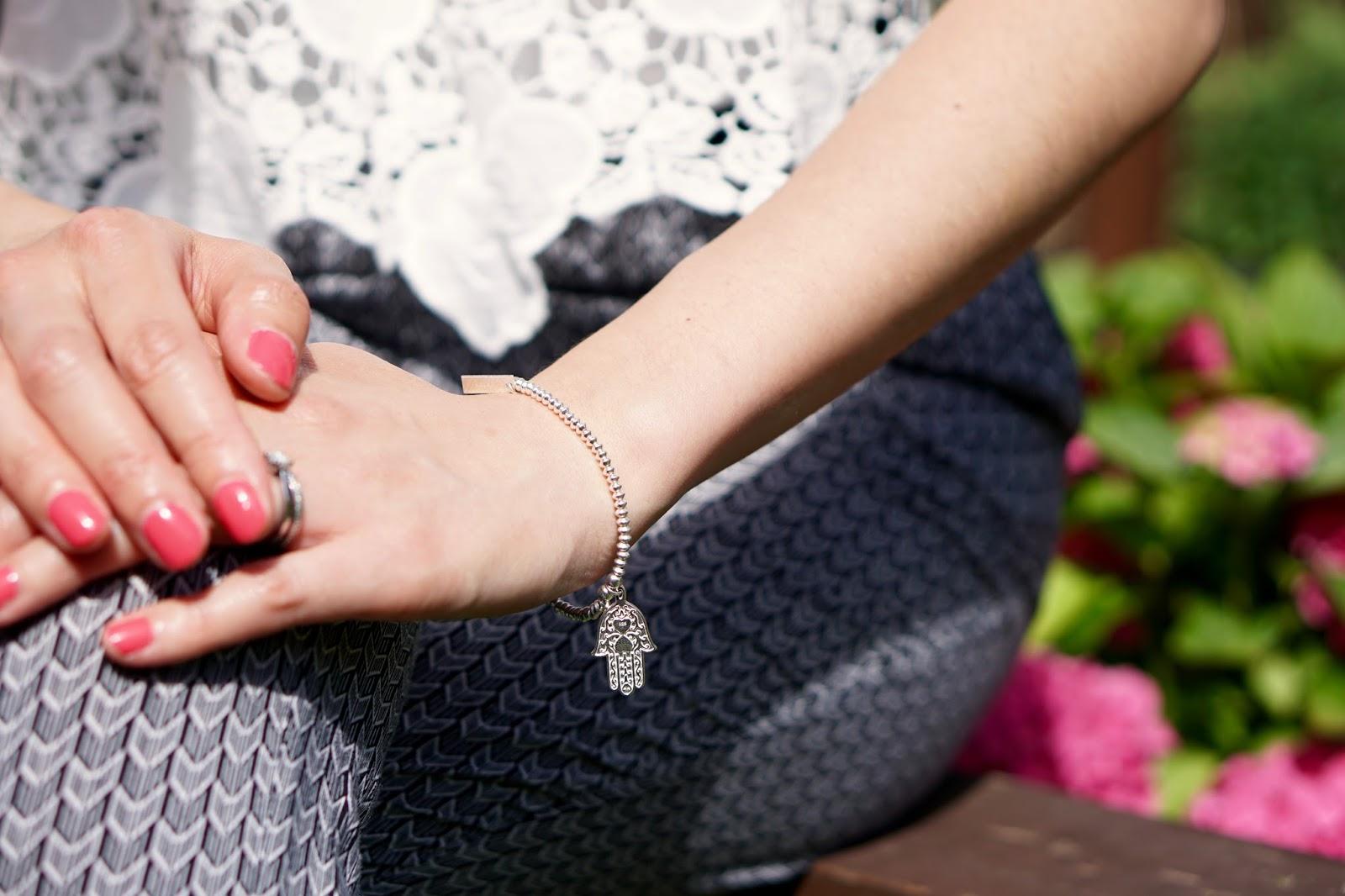ChloBo Hasma Hand Charm bracelet