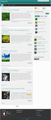 Easy TVL Responsive Blogger Template