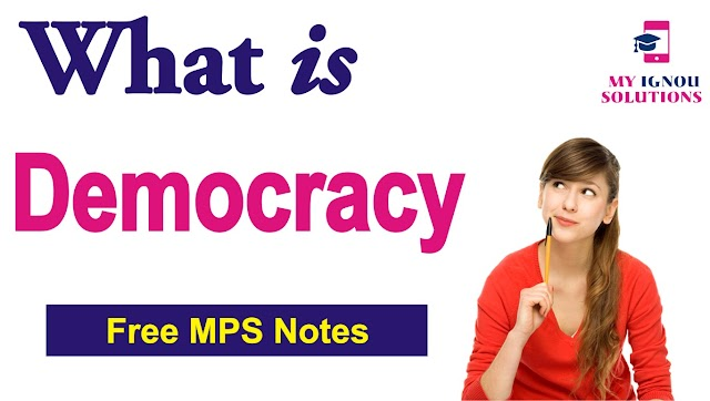 What is Democracy ?